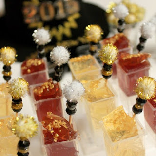 Mini Pear + Pomegranate Champagne Jello Shot Pops