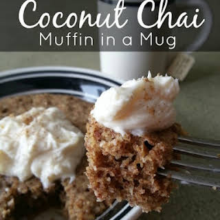 Coconut Chai Muffin in a Mug.