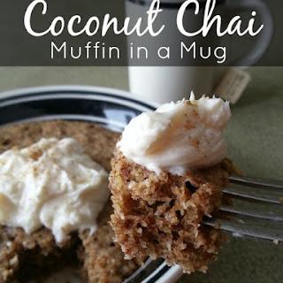 Coconut Chai Muffin in a Mug.