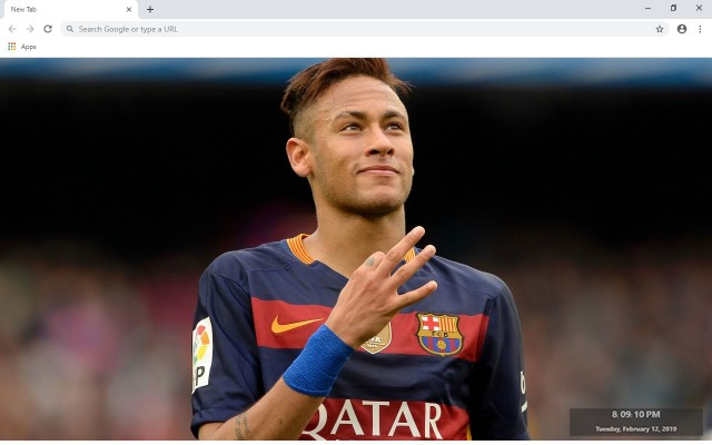 Neymar New Tab & Wallpapers Collection