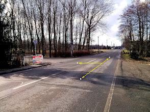 Photo: OSTRAVA - BARTOVICE. ODBOČKA POD ŽELEZNIČNÍ TRAŤ. (A) - trasa směr Vratimov, přes les Důlňák (B) trasa směr Šenov, Havířov - výchozí bod (C) - silnice směr vl. nádraží OV - Bartovice, huť Arcelor Mittal