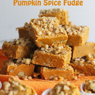 Salted Toffee Pumpkin Spice Fudge