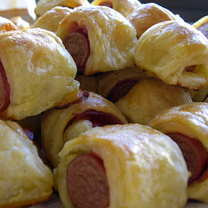 Sausage, Ham, and Cheese rolls