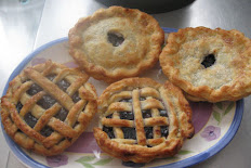 """Set of 4  5"""" Blueberry Pies"""