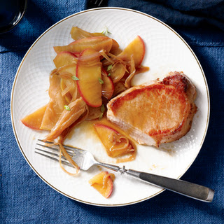 Pork Loin Chops with Apple and Shallot Recipe
