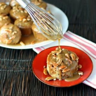 Caramel Banana Poke Muffins.
