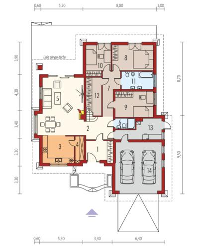 Kornelia II G2 Leca® Dom - Rzut parteru
