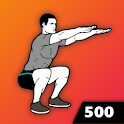 500 Squats: Legs Workout icon