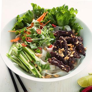 Vietnamese Beef Noodle Salad.