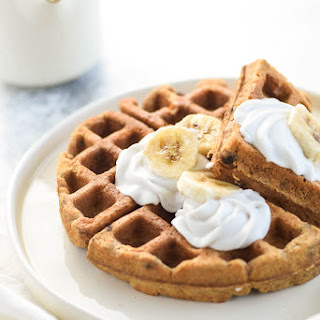 4 Ingredient Banana Waffles.