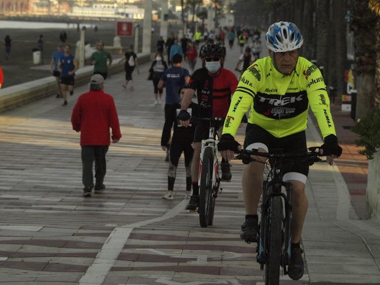 Algunos ciclistas apostaron por la mascarilla.