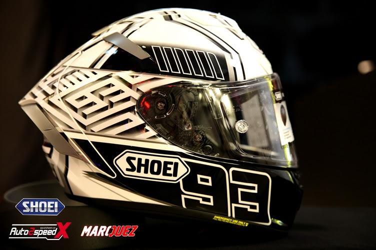 หมวกกันน็อค SHOEI X14 Marquez4 White