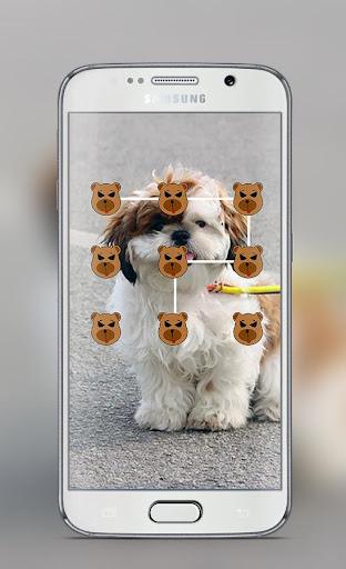 Dog Pattern Lock Screen