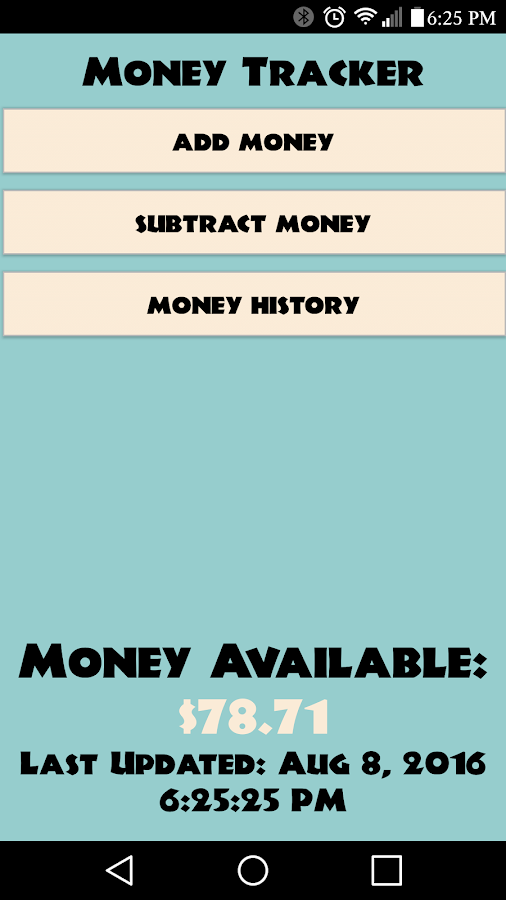 Simple Money Tracker- screenshot
