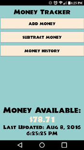 simple money tracker app report on mobile action app store