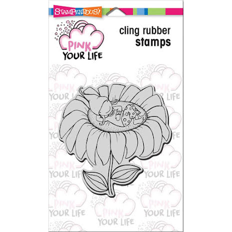 Stampendous Pink Your Life Cling Stamp 4X4 - Whisper Sunflower UTGÅENDE
