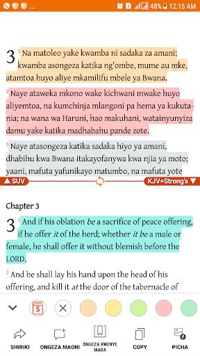 Biblia Takatifu Swahili  Bible 1.5.8 screenshots 2