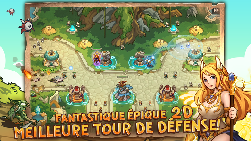 Tower Defense Crush: Empire Warriors TD captures d'u00e9cran 1