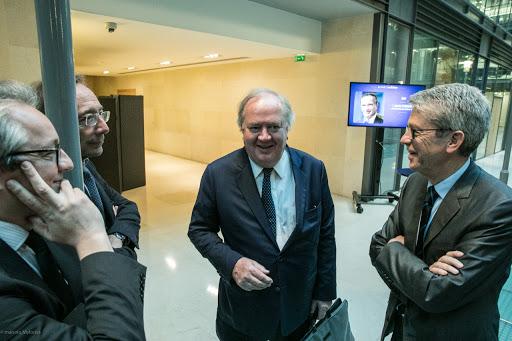 Denis Kessler, président directeur général du groupe Scor, au Club Les Echos Débats le 18 mai.