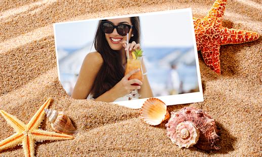 beach fotografie selfie - náhled
