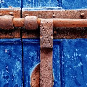 The locker by Ana Paula Filipe - Artistic Objects Antiques ( door, blue, old, antique, locker )