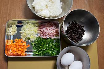 黒千石レシピ:黒千石入りチャーハン・材料