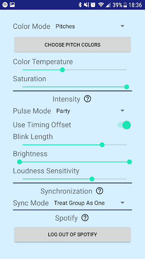 Music Blitz for LIFX hack tool