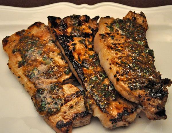 Grilled Deviled Pork Chops Recipe