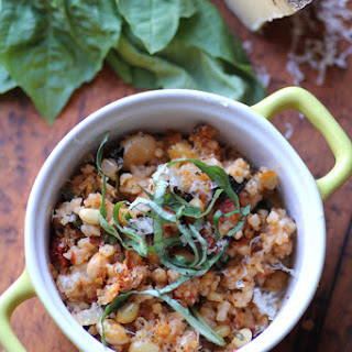 White Bean, Spinach, and Couscous Bake