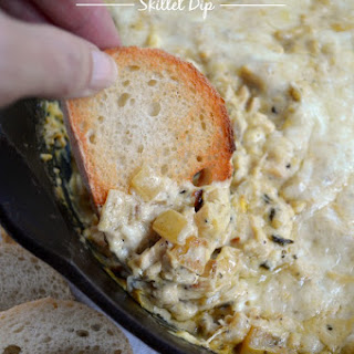 Cheesy Chicken Artichoke Skillet Dip