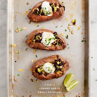 Healthy Loaded Sweet Potatoes.
