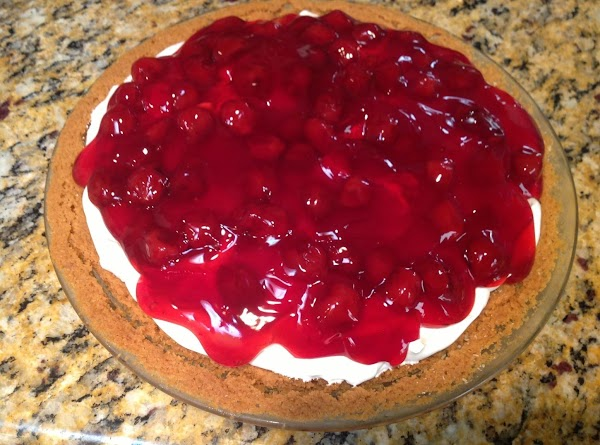 Spread the Cherry Filling over the Whipped Topping.