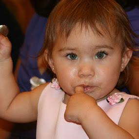 Loves the wedding cake. by Carmen Hahn - Babies & Children Children Candids
