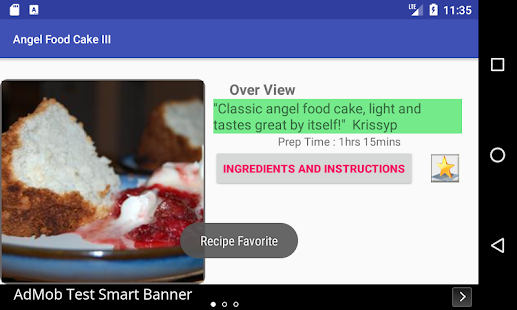 Angel food cake free recipe app android apps on google play angel food cake free recipe app screenshot thumbnail forumfinder Choice Image