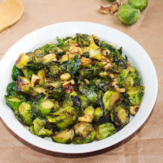 Brussels Sprouts with Maple Syrup & Walnuts