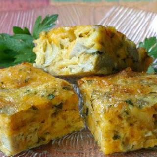 Baked Artichoke-Parsley Cheese Squares