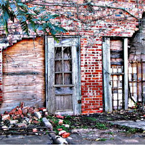 Old Power House by Debbie Duggar - Buildings & Architecture Decaying & Abandoned ( oklahoma, brick, duncan ok, old building, abandoned,  )