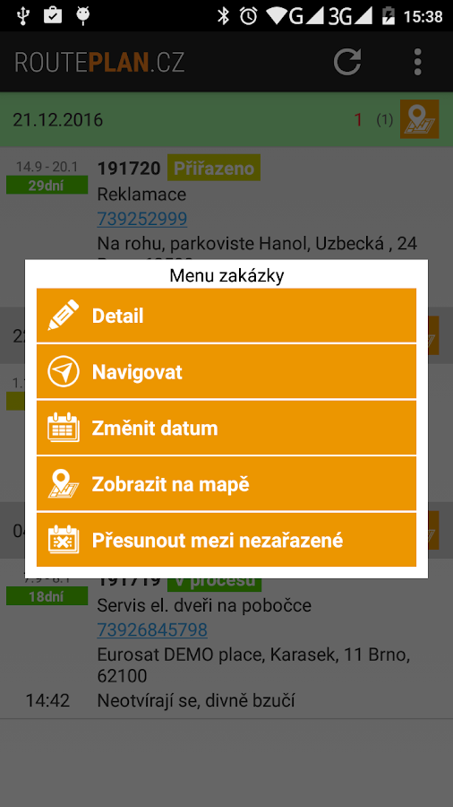 RoutePlan.cz- screenshot