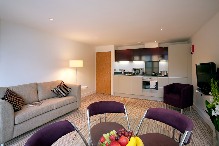 living space at Lamb Conduit Street Apartments