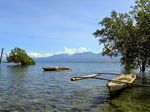 Photo: Leyte mountains behind Bay Bay