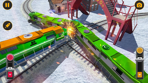 Modern Pak vs Indian Train Race: Azadi Train Game 1.0 screenshots 4