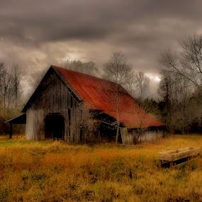 The Winter Barn by Kim Welborn - Digital Art Things ( nikon d200 )