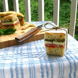 Pretty Italian Pressed Sandwiches.