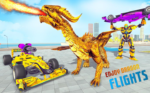 Dragon Robot Car Game u2013 Robot transforming games screenshots 1