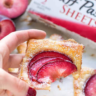 Easy Mini Plum Tarts Recipe With Puff Pastry.