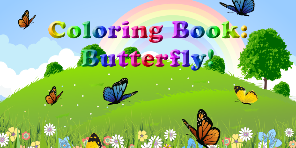 Coloring Book: Butterfly!- screenshot