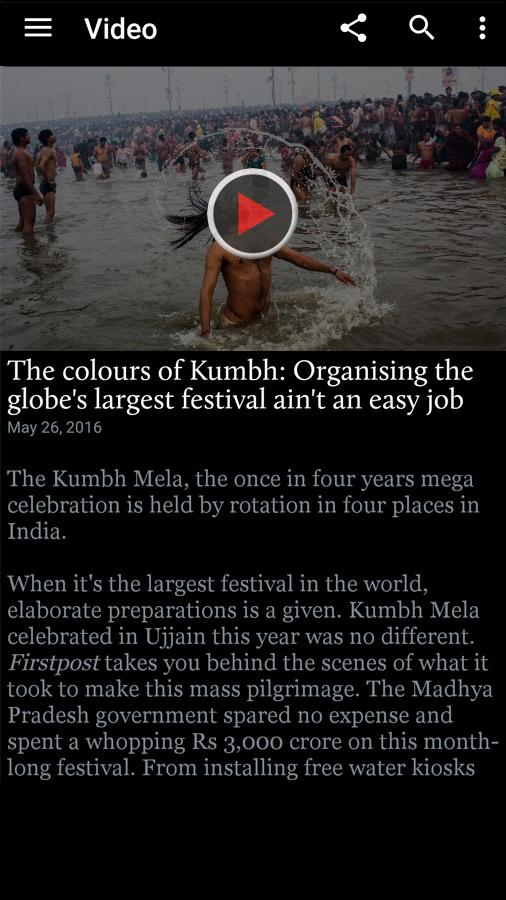 Screenshots of Firstpost News for iPhone