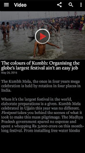 Screenshots of Firstpost News for iPhone