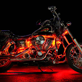Motorcycle Glow by Shawn Thomas - Transportation Motorcycles (  )