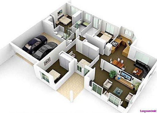 3Dホーム計画とレイアウト